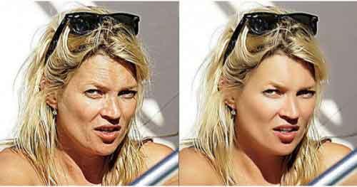 Как фотошоп меняет женское лицо